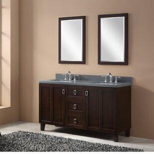 60 Double Sink Bathroom Vanity Set by InFurniture