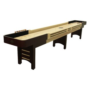 Coventry 16' Espresso Shuffleboard, Butcher Block Bed and Black Carpet ByPlaycraft