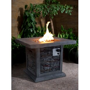 Gracie Oaks Bettine Stone Propane Fire Pi..