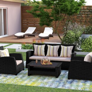 Valetta 4 Piece Sofa Set with Cushions