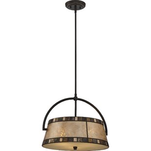 Loon Peak Chamberlin 3-Light Drum Chandelier