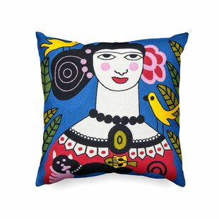 Bustillos Handmade Picasso Inspired Indoor/Outdoor Cotton Throw Pillow