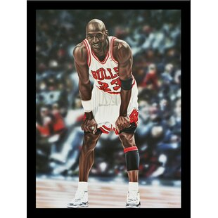 'Michael Jordan Chicago Bulls' Framed Graphic Art Print by Buy Art For Less