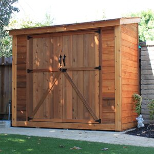 SpaceSaver 8 ft. W x 4 ft. D Wooden Lean-To Tool Shed
