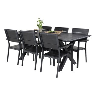 Dhairya 6 Seater Dining Set By Sol 72 Outdoor