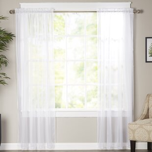Solid Sheer Curtain Panels (Set of 2) by Viv + Rae