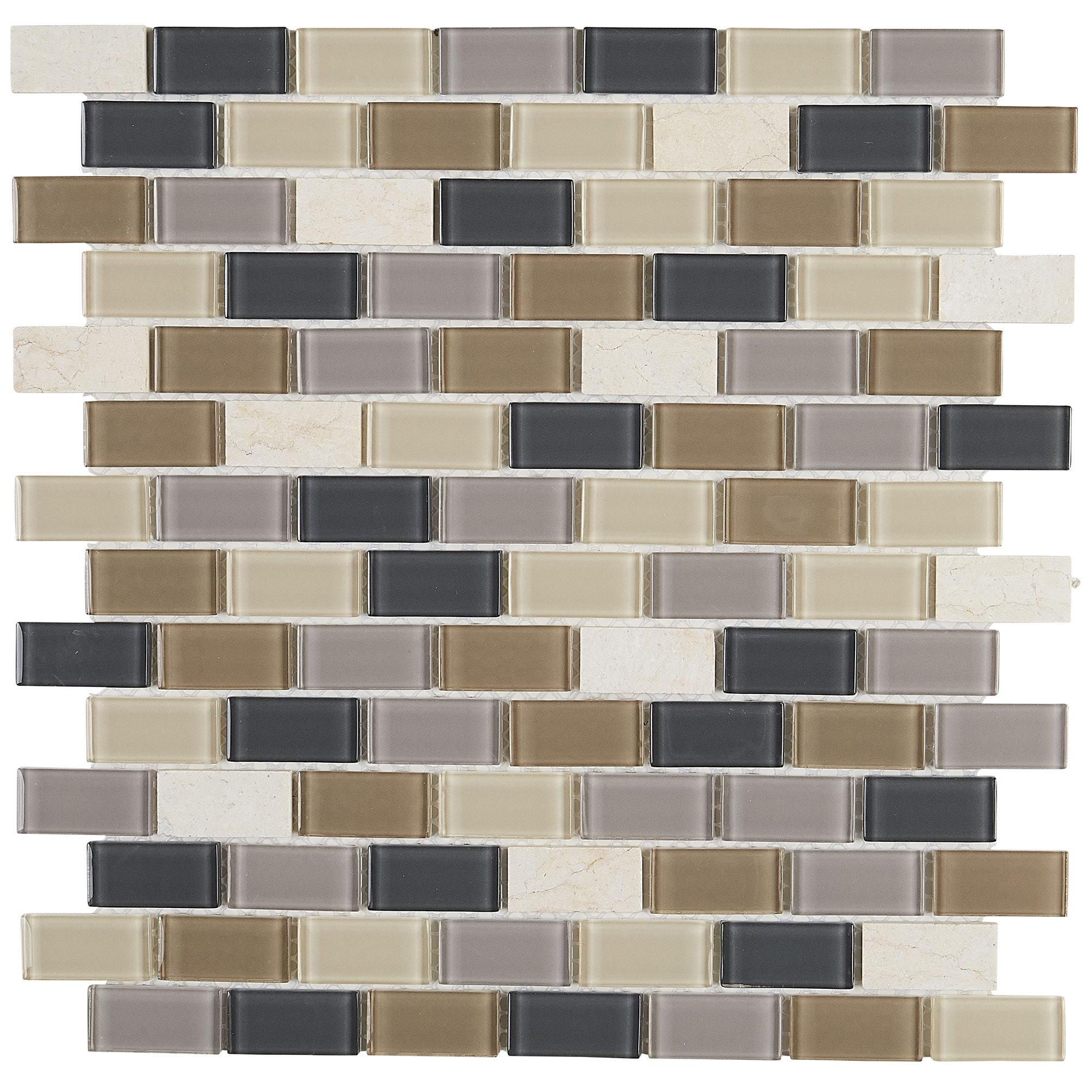Itona Tile Gibson 0 75 X 1 5 Natural Stone Mosaic Tile Wayfair
