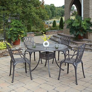 Astoria Grand Frontenac 7 Piece Dining Set with Cushions 5 Piece Dining Set