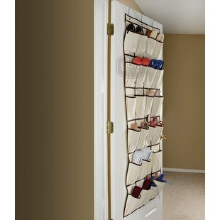 Read Reviews Pocket Fabric Storage Rack 12 Pair Hanging Shoe Organizer By Rebrilliant