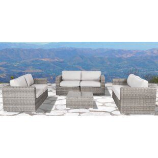 Rosecliff Heights Vardin 7 Piece Sectional Set with Cushions