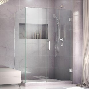 Unidoor Plus 55 x 72 Hinged Frameless Shower Door with Clear Max Technology by DreamLine