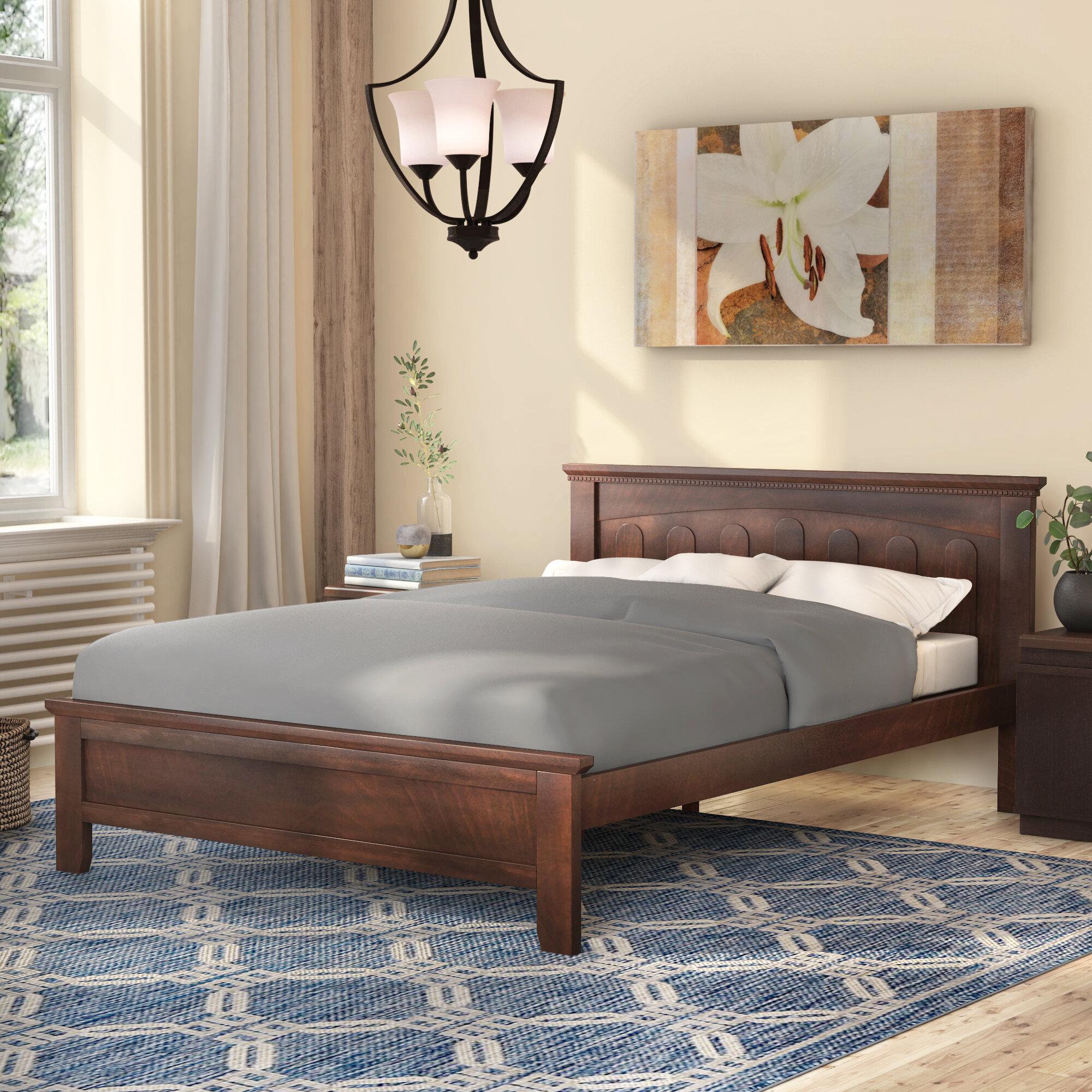 Winston Porter Burgin Solid Wood Platform Bed Reviews Wayfair