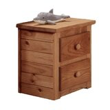 Cheng 2 - Drawer Solid Wood Nightstand in Brown by Harriet Bee