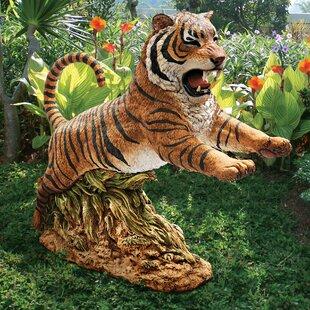 Design Toscano Jungle Cat Leaping Bengal Tiger Statue