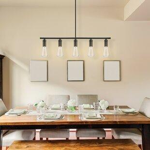 Novogratz Vintage 5 Light Kitchen Island Bulb Pendant