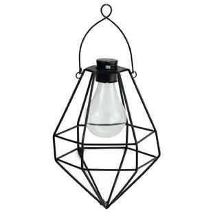 Williston Forge Wilson Diamond Solar Powered 1-Light LED Outdoor Hanging Lantern