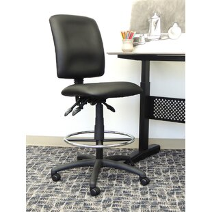 Boss Office Products Leather Drafting Chair
