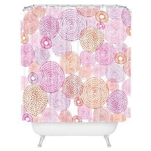 Carlberg Circles Single Shower Curtain