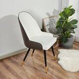 Granada Metal Arm Chair in White/Brown by Corrigan Studio®