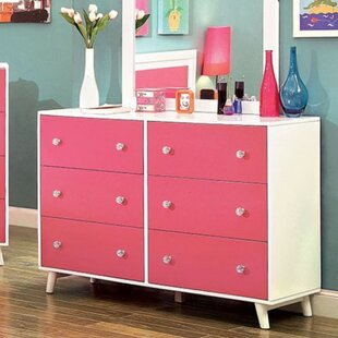 Buy clear Auburn 6 Drawer Double Dresser by Harriet Bee Reviews (2019) & Buyer's Guide