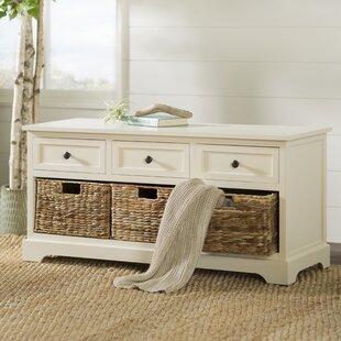 Beachcrest Home Ardina Wood Storage Bench