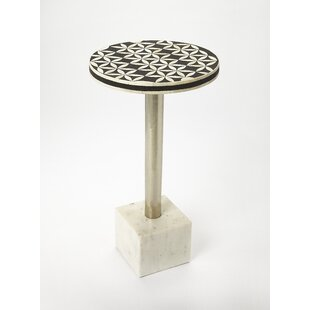 Read Reviews Bellingham Bone Inlay End Table By Ivy Bronx