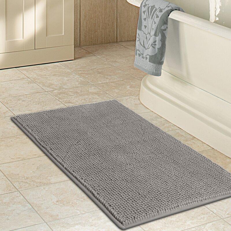 Demontfort Non Slip Bathroom Soft Bedroom Microfiber Bath Rug