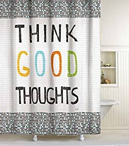 Think Good Thoughts Shower Curtain ByCHF