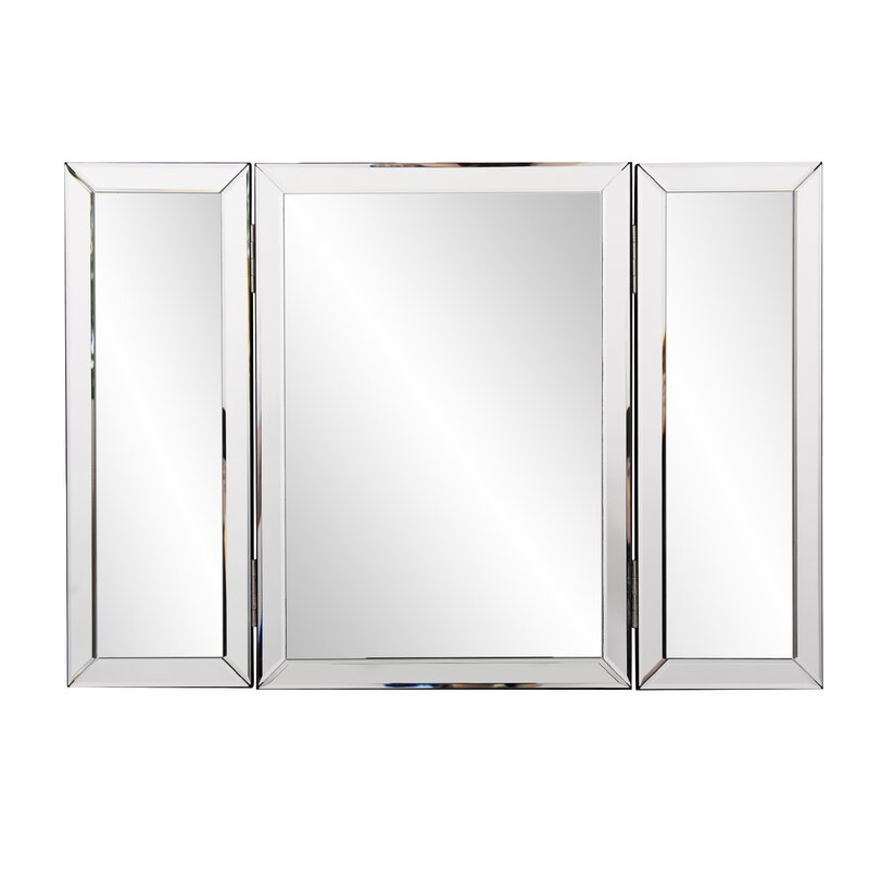 Everly Quinn Trifold Bathroom Vanity Mirror Wayfair