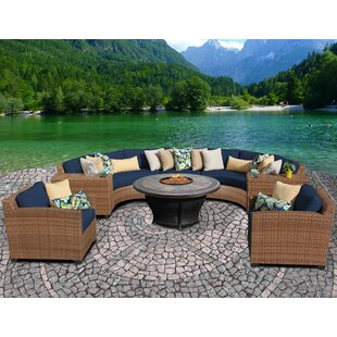 Latitude Run McCarney 8 Piece Sectional Set with Cushions