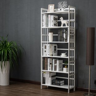 Barlyne Wood Geometric Bookcase