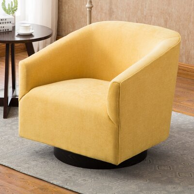 Excellent Ivy Bronx Alvis Swivel Barrel Chair Upholstery Color Goldenrod Squirreltailoven Fun Painted Chair Ideas Images Squirreltailovenorg