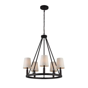 Holbrook 5-Light Shaded Chandelier