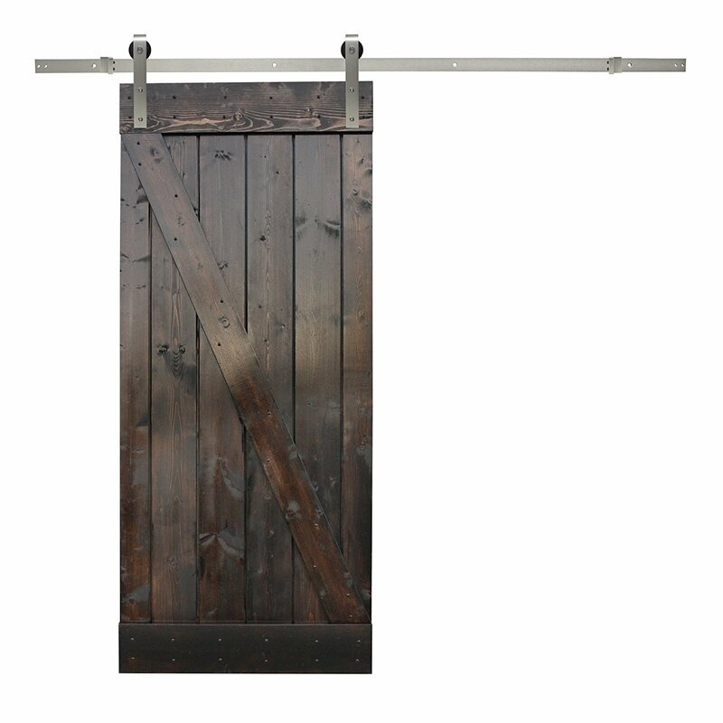 Exceptionnel Paneled Wood Sliding Barn Door With Installation Hardware Kit