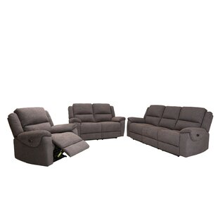 Jaya 3 Piece Reclining Living Room Set by..