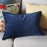 Captain Rectangular Velvet Lumbar Pillow Cover & Insert