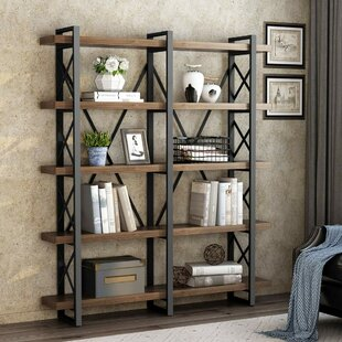 Hessler Solid Wood Wide Open Etagere Bookcase