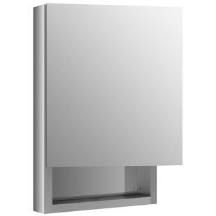 Verdera 20 x 30 Aluminum Medicine Cabinet with Adjustable Magnifying Mirror, Slow-Close Door, Open Shelf and Left-Hand Hinge by Kohler