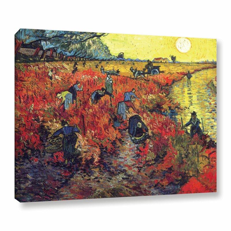 Alcott Hill Red Vineyard At Arles By Vincent Van Gogh Oil Painting Print On Canvas Reviews Wayfair