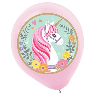 Magical Unicorn Latex Disposable Balloon (Set of 25)