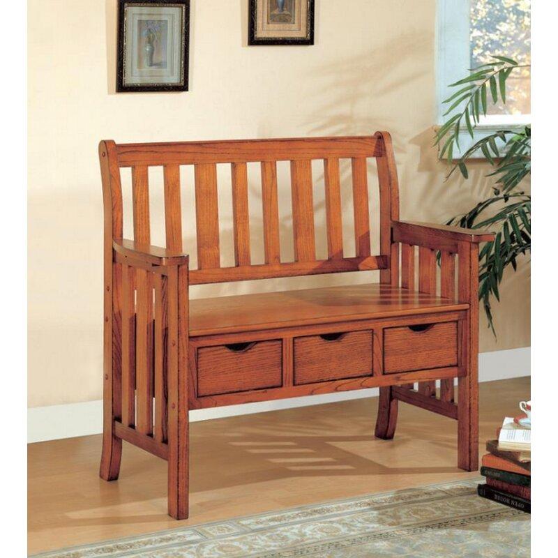 Rosalind Wheeler Candide Wood Storage Bench Wayfair