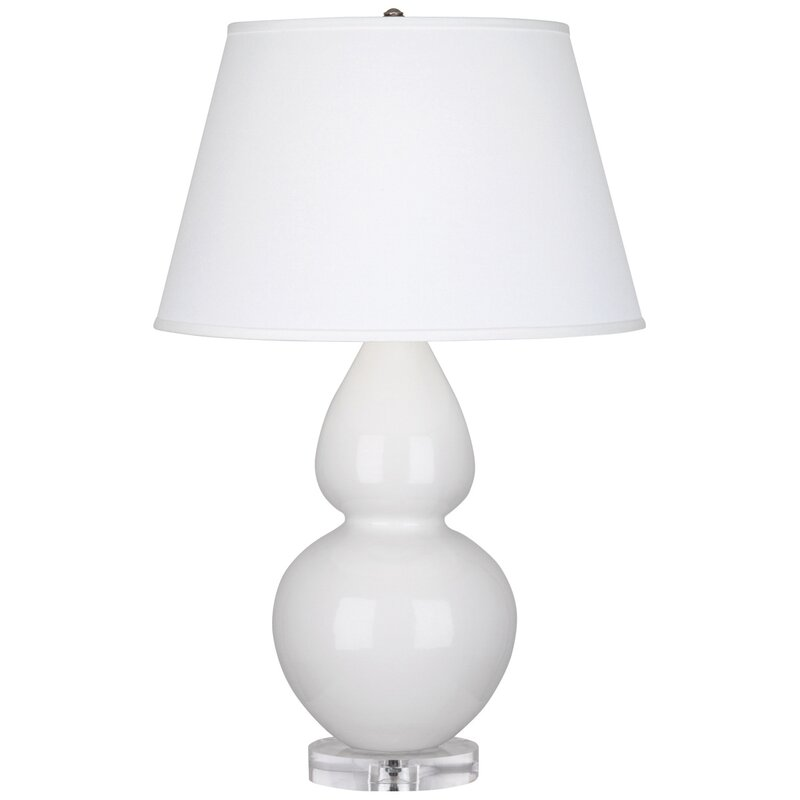 Robert Abbey Large Double Gourd Table Lamp #gourdlamp #whitelamp