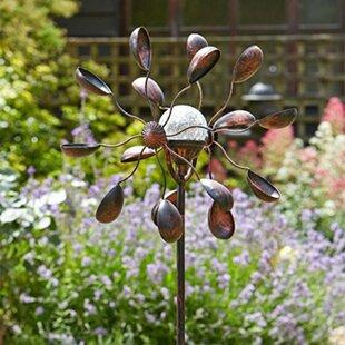 Halvorson Light Up Gemini Wind Spinners Solar Powered Garden Torch By Sol 72 Outdoor