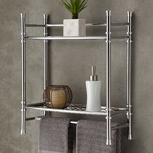 Chrome Mounted Towel Rack