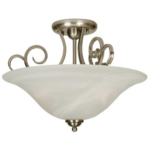 Jeppesen 3-Light Semi Flush Mount by Alcott Hill