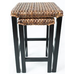 2 Piece Seagrass Nesting Table
