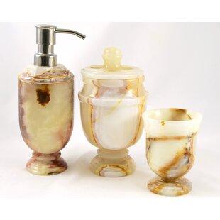 Nature Home Decor Siberian Onyx 3-Piece Bathroom Accessory Set
