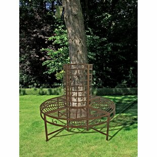 8-Seater Romantic Metal Tree Bench By Sol 72 Outdoor