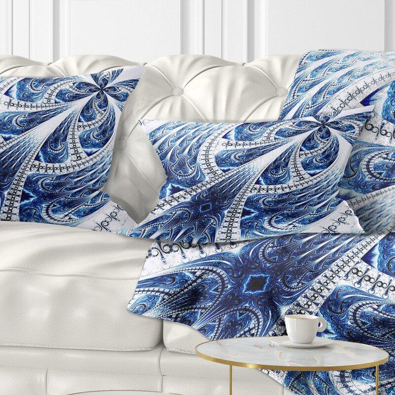 East Urban Home Floral Symmetrical Large Fractal Flower Lumbar Pillow Wayfair