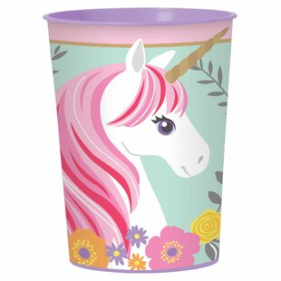 Magical Unicorn Plastic Disposable Every Day Cup (Set of 15)